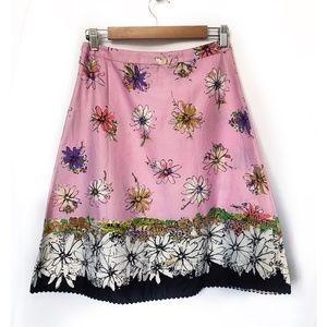 Anthropologie Elevenses Garden City Skirt, size 4